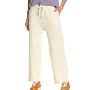 Free people movement ecru lounge pant